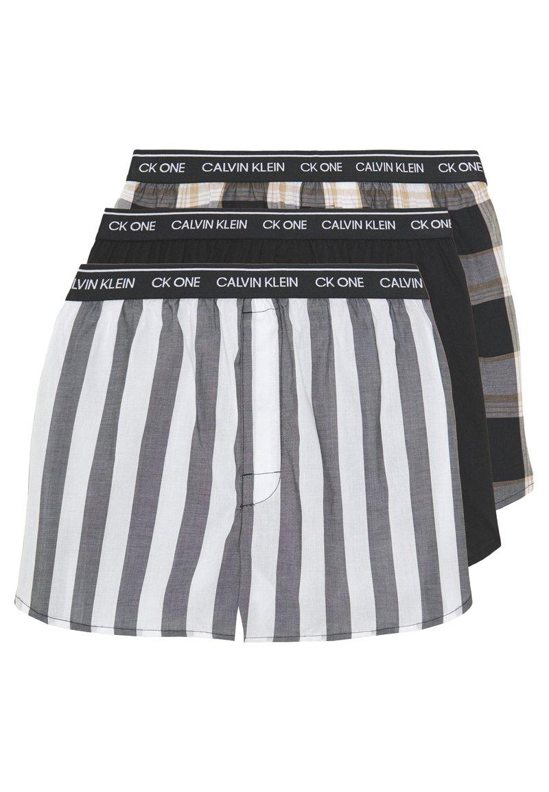 Calvin Klein Underwear - CK ONE SLIM FIT 3 PACK  - Boxershorts - black