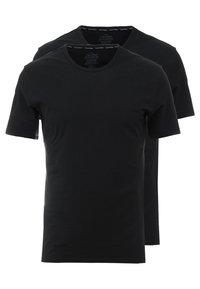 Calvin Klein Underwear - CREW NECK SLIM FIT 2PACK - Maglietta intima - black - 0