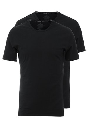 CREW NECK SLIM FIT 2PACK - Caraco - black