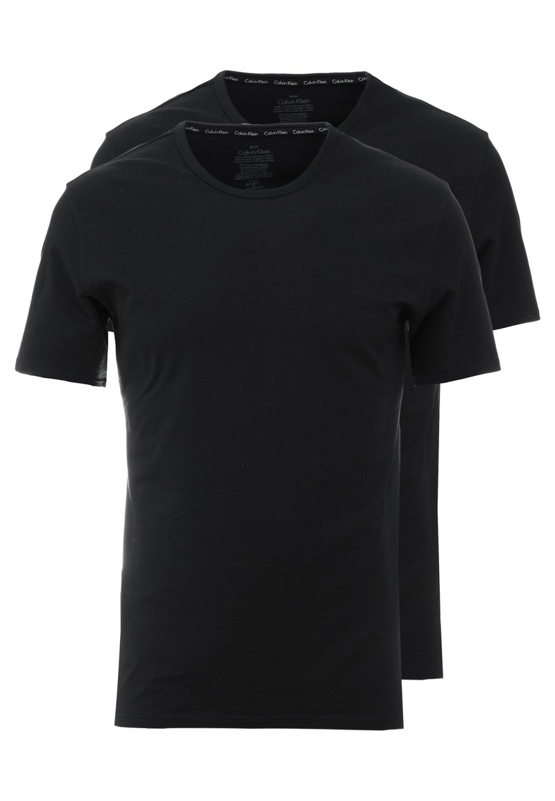 Calvin Klein Underwear - CREW NECK SLIM FIT 2PACK - Maglietta intima - black