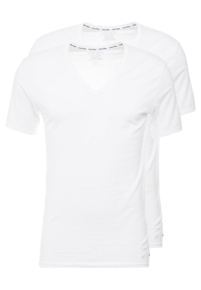 Calvin Klein Underwear - V NECK T SLIM FIT 2PACK - Undershirt - white
