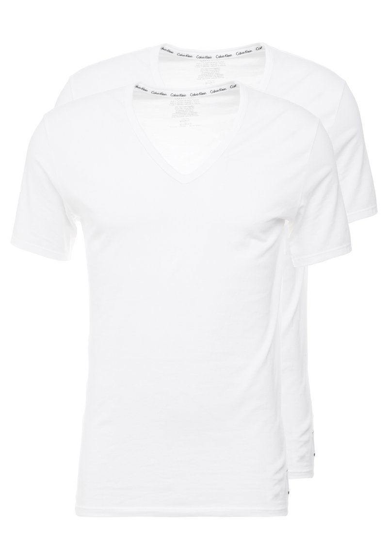 Calvin Klein Underwear - V NECK T SLIM FIT 2PACK - Undertröja - white