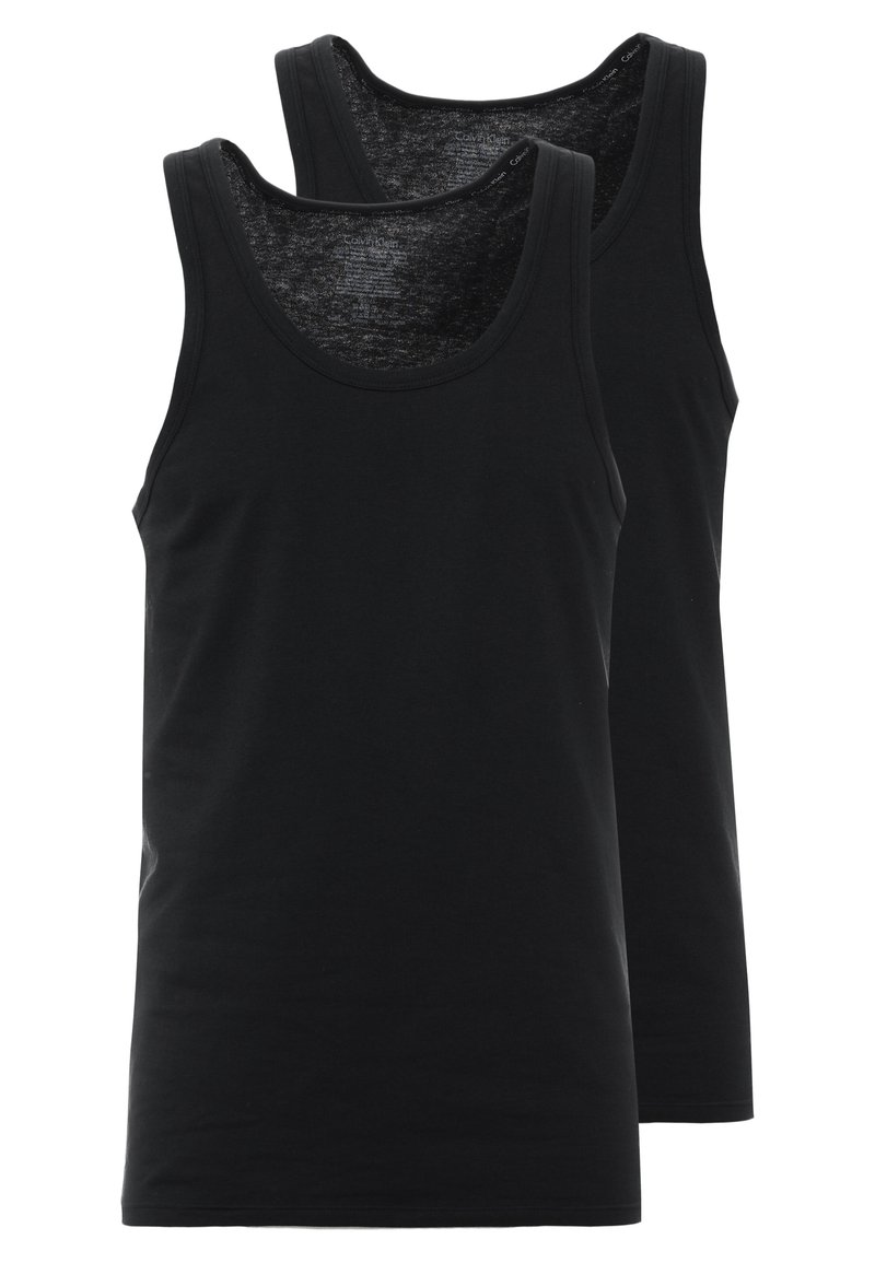 Calvin Klein Underwear - TANK 2 PACK - Podkoszulki - black