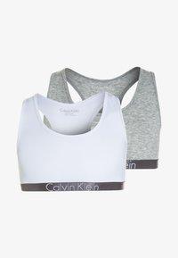 Calvin Klein Underwear - BRALETTE 2 PACK - Korzet - grey heather - 0