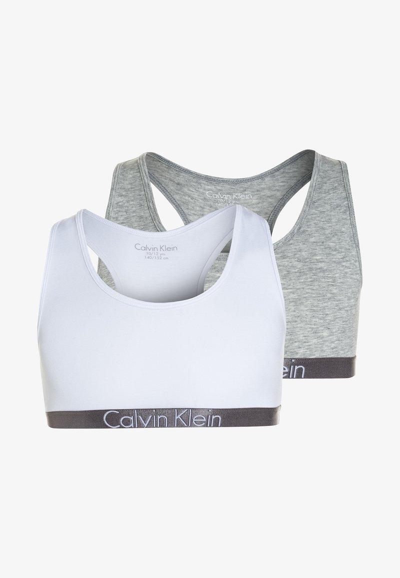 Calvin Klein Underwear - BRALETTE 2 PACK - Korzet - grey heather
