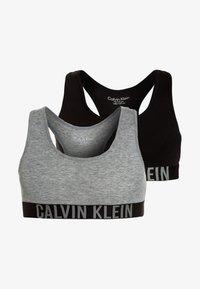Calvin Klein Underwear - BRALETTE 2 PACK - Bustier - grey heather/black - 0