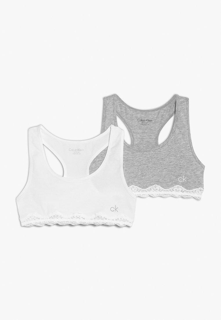 Calvin Klein Underwear - BRALETTE 2 PACK - Bustier - white/greyheather