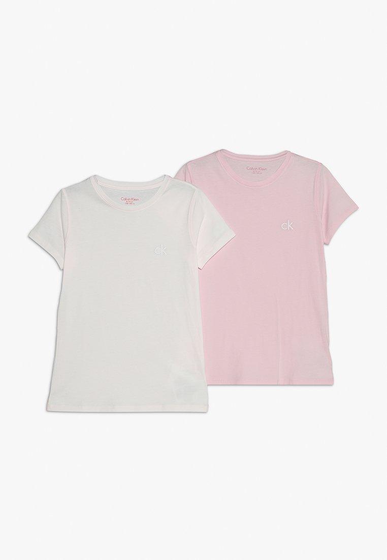 Calvin Klein Underwear - TEES 2 PACK - Aluspaita - unique pink/shrinking violet
