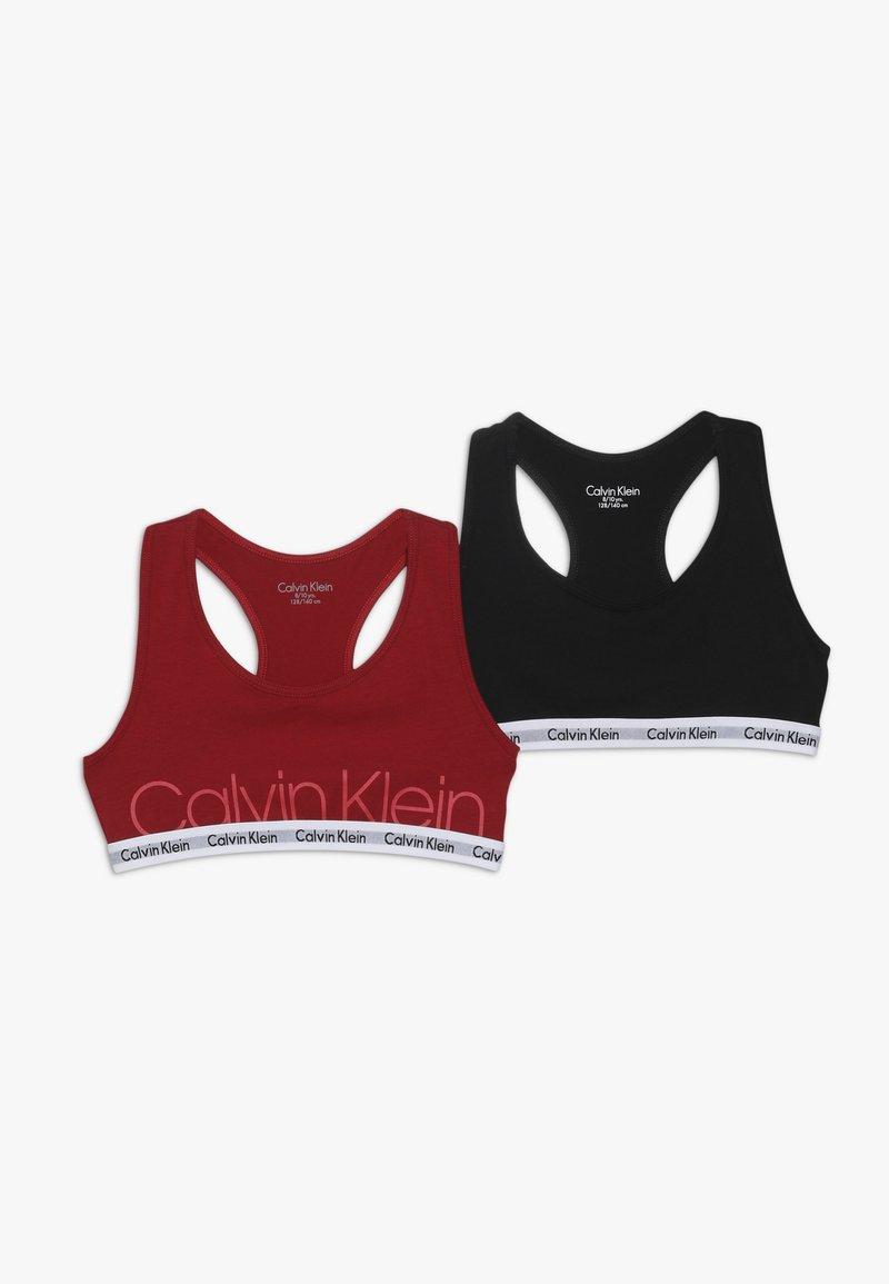 Calvin Klein Underwear - BRALETTE 2 PACK  - Korzet - red