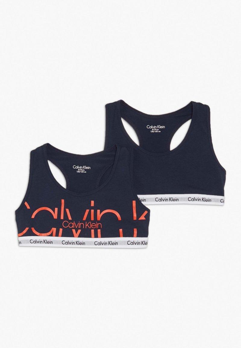 Calvin Klein Underwear - BRALETTE 2 PACK  - Bustier - blue