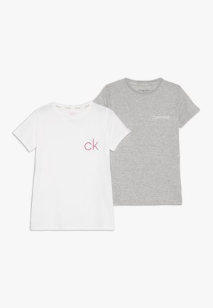 TEES 2 PACK - Pyjama top - white
