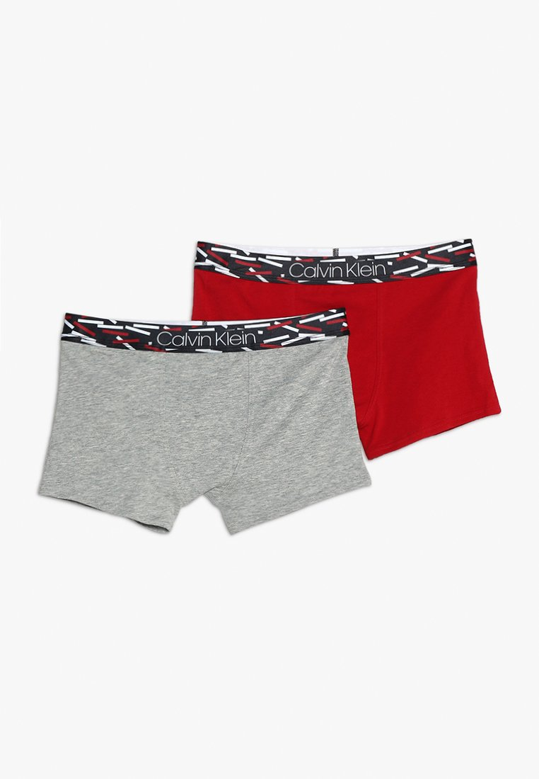 Calvin Klein Underwear - TRUNKS 2 PACK - Onderbroeken - haute red/grey heather