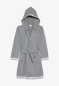 Calvin Klein Underwear - HOODED ROBE - Dressing gown - grey - 4