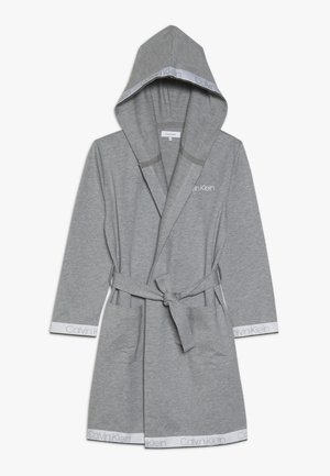 HOODED ROBE - Dressing gown - grey
