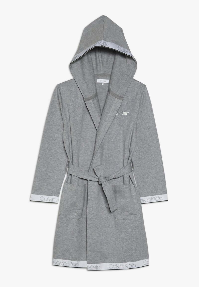 Calvin Klein Underwear - HOODED ROBE - Dressing gown - grey