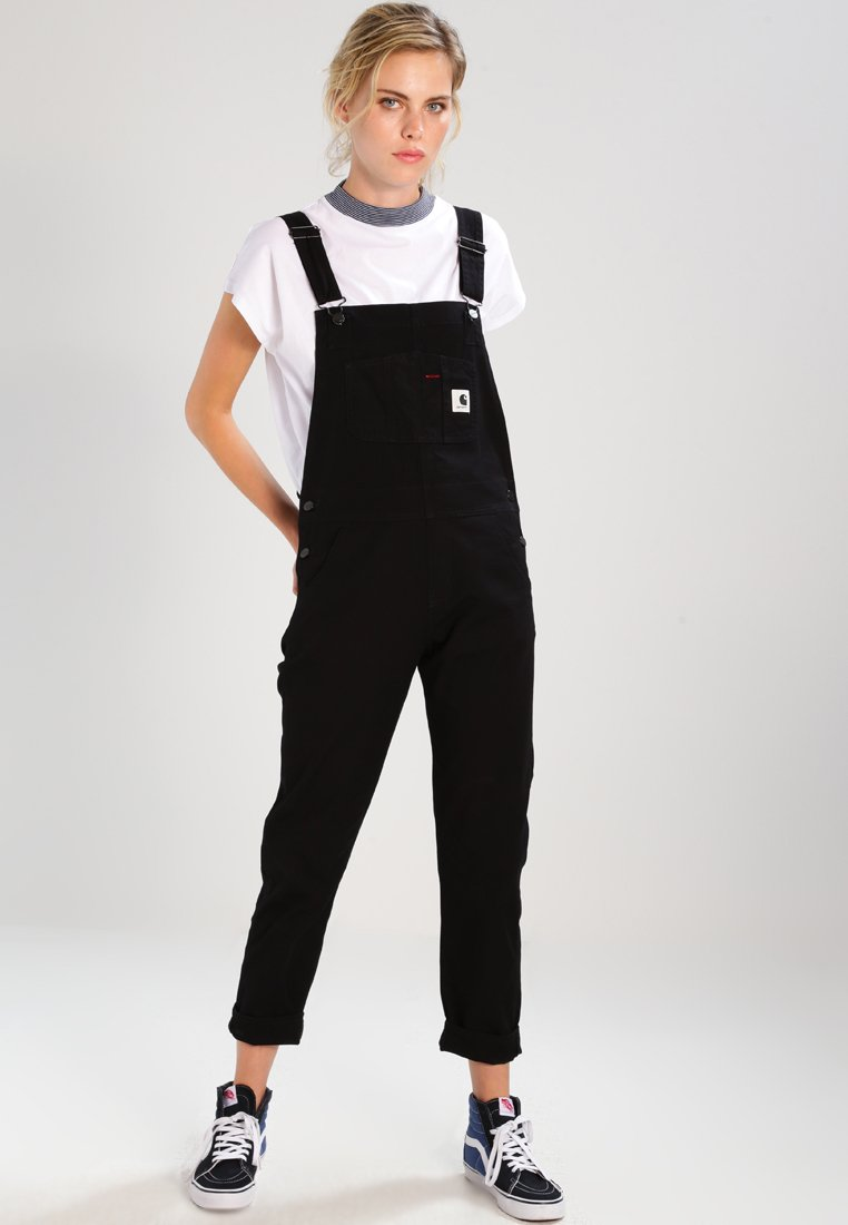Carhartt WIP - W BIB OVERALL HURON - Dungarees - black rinsed