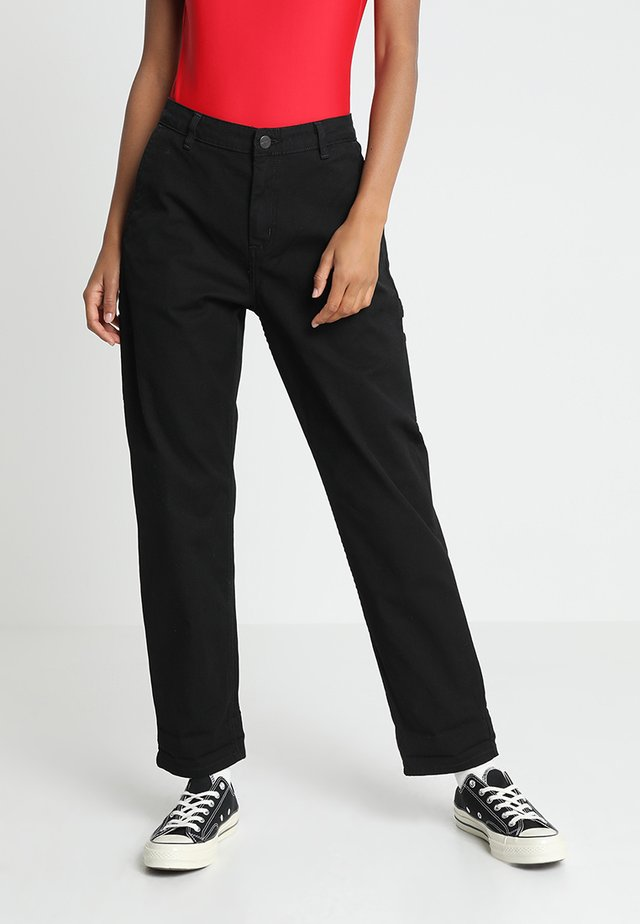 PIERCE PANT - Broek - black rinsed