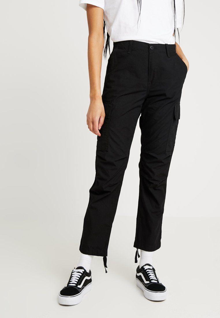 Carhartt WIP - CYMBAL PANT COLUMBIA - Trousers - black rinsed