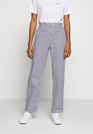 PIERCE PANT STRAIGHT HIALEAH - Bukse - blue/white