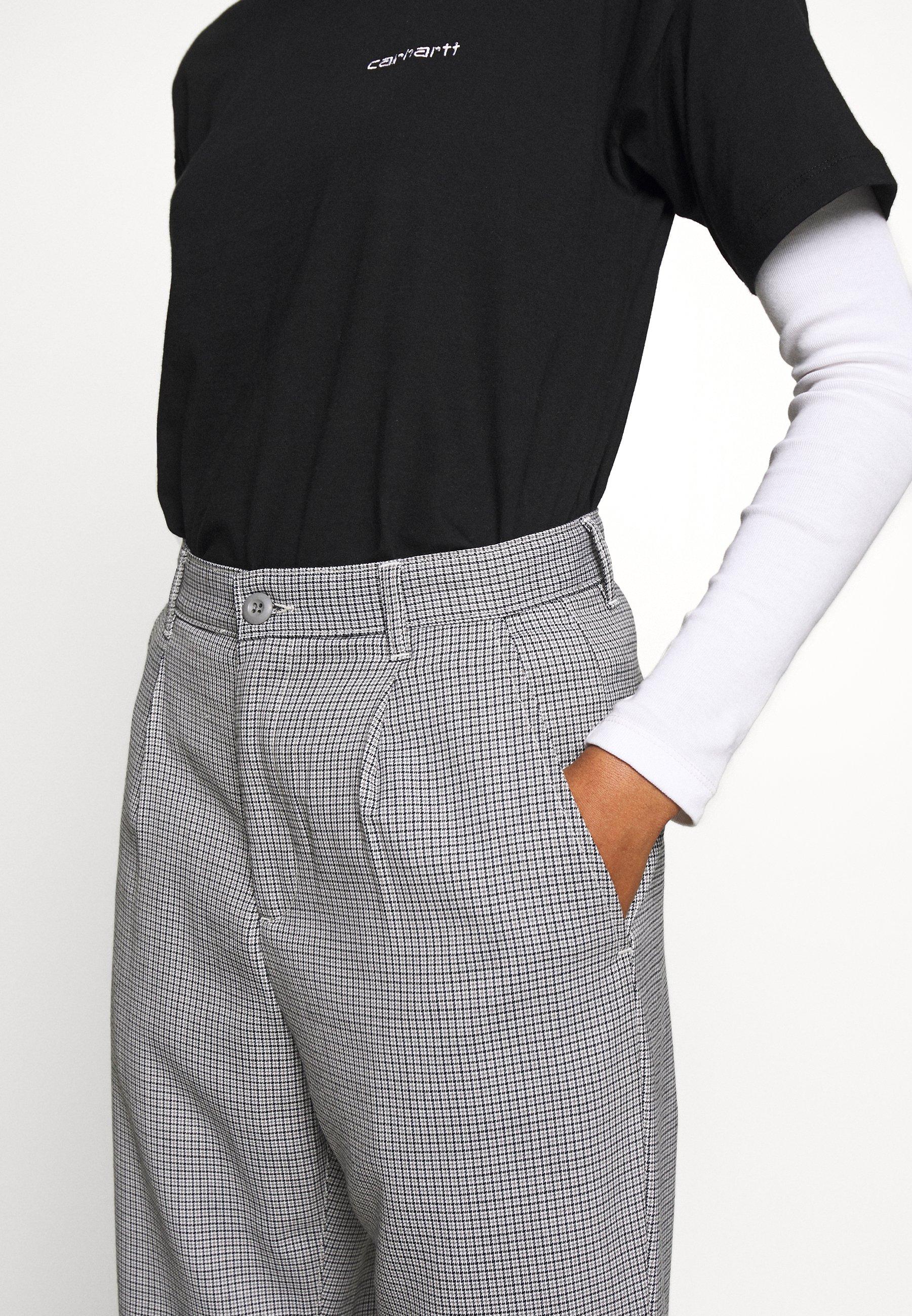 Carhartt WIP PULLMAN PANT MONTEBELLO - Trousers - black rigid