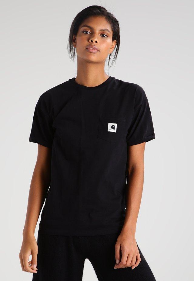 CARRIE POCKET - Basic T-shirt - black/ash heather