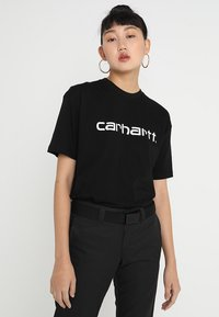 Carhartt WIP - SCRIPT - T-shirts print - black/white - 0