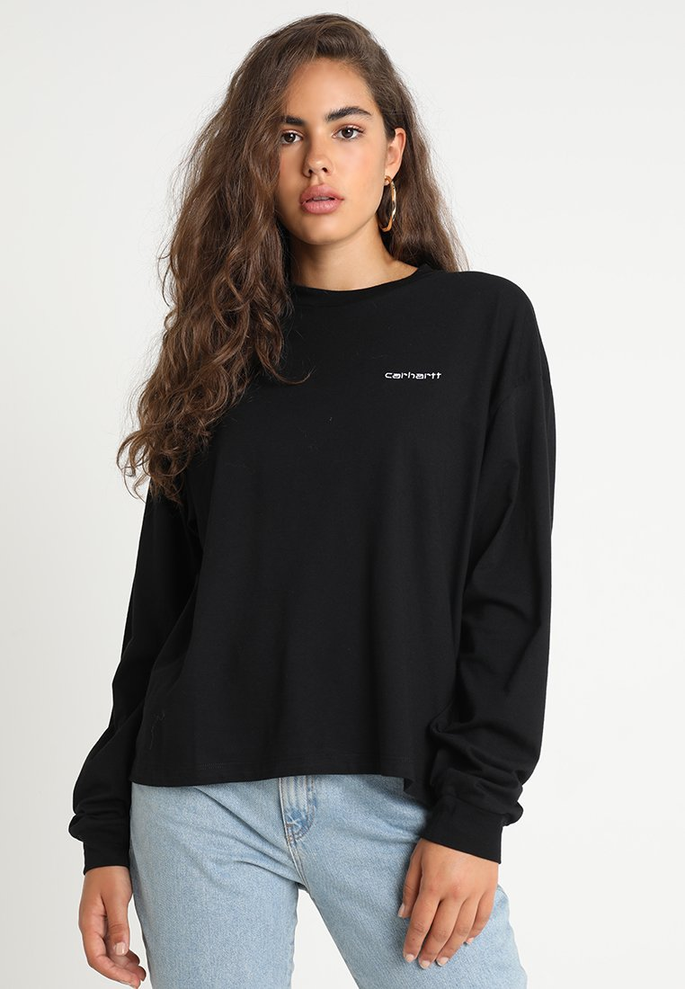 Carhartt WIP - SCRIPT EMBROIDERY - Long sleeved top - black white