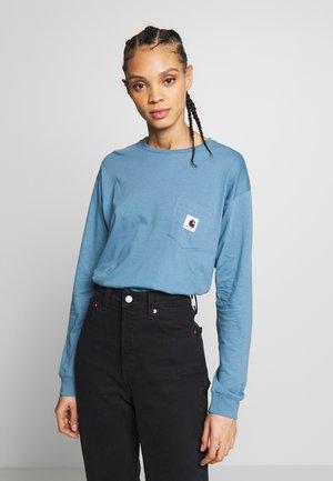 POCKET - Langærmede T-shirts - cold blue/grey heather