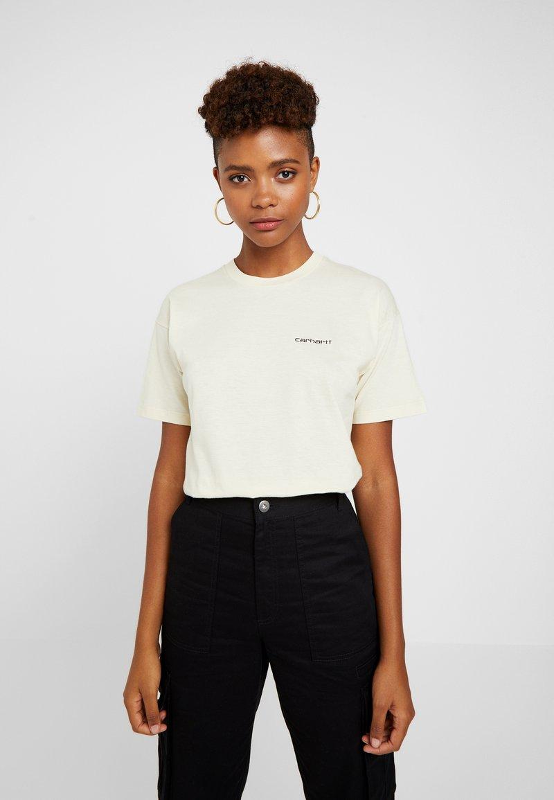 Carhartt WIP - SCRIPT EMBROIDERY - T-Shirt print - flour / black