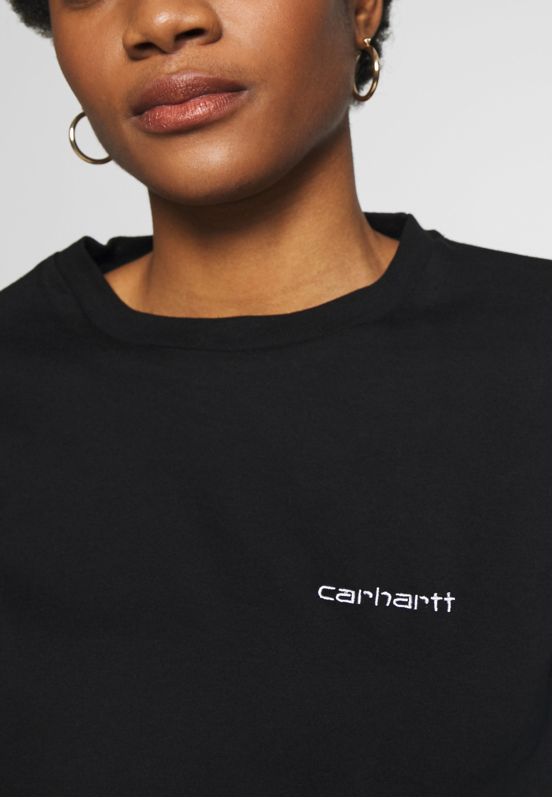 Carhartt WIP SCRIPT EMBROIDERY - T-shirt basic - black/white