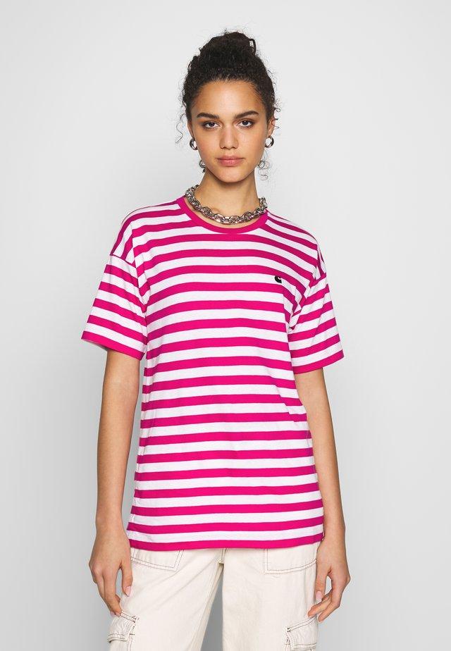 SCOTTY - Printtipaita - ruby pink/white