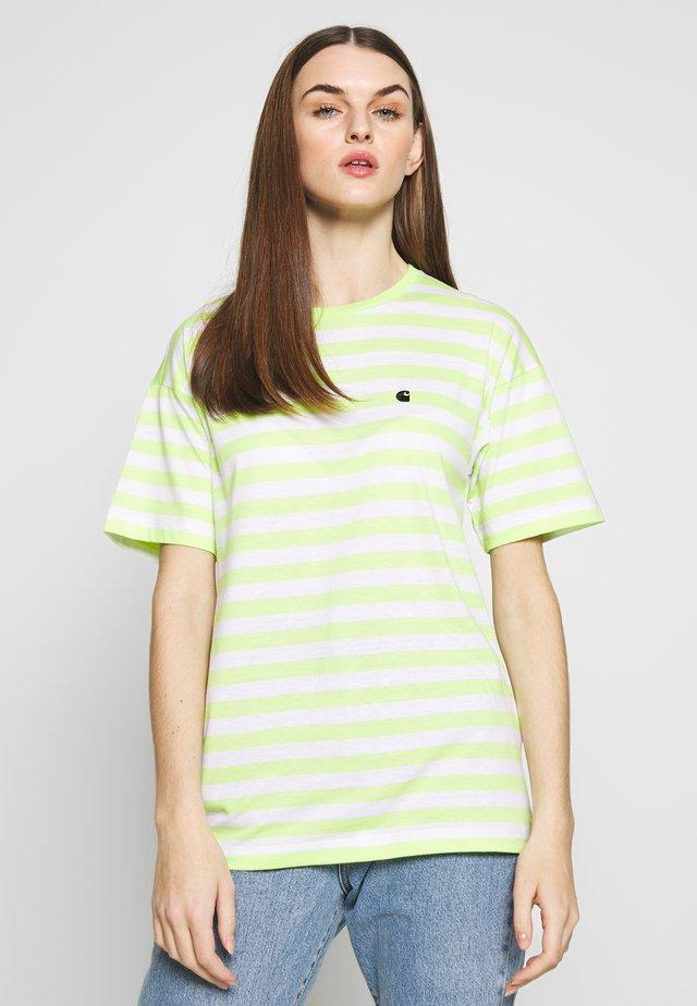 SCOTTY - T-shirt z nadrukiem - lime / white