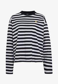 Carhartt WIP - SCOTTY - Long sleeved top - dark navy/white - 3