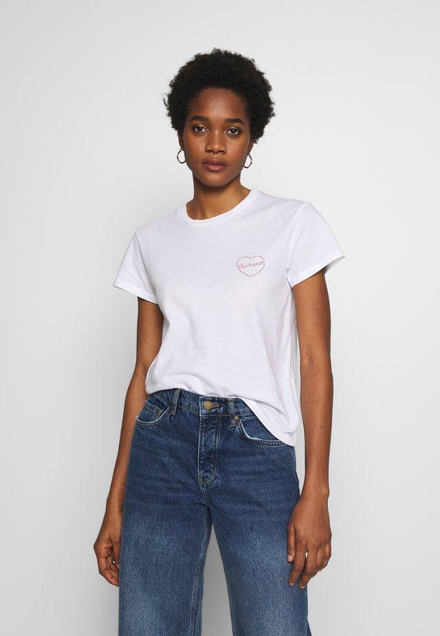 TILDA HEART - T-shirt med print - white