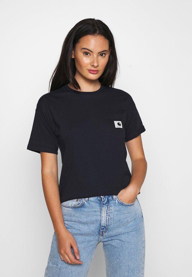 CARRIE POCKET - Basic T-shirt - dark navy