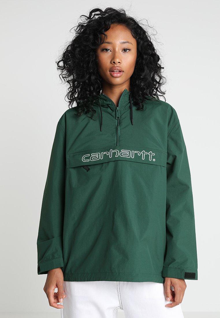 Carhartt WIP - SCRIPT - Windjack - bottle green/white