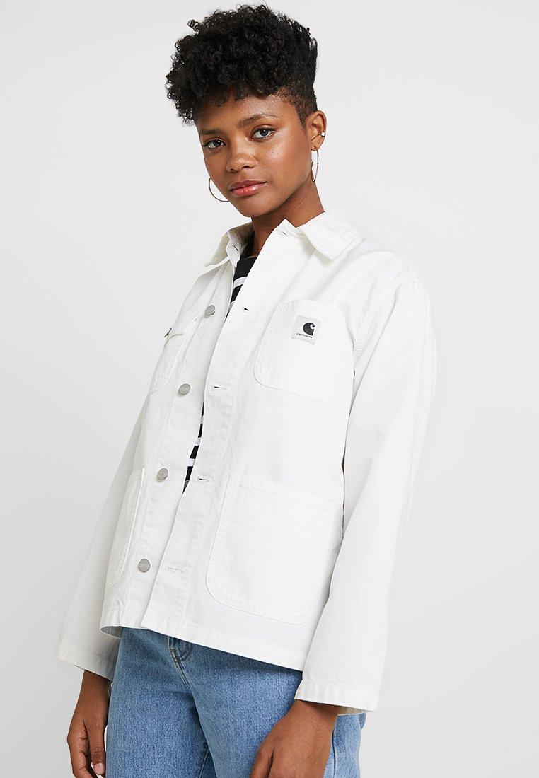 Carhartt WIP - W' MICHIGAN COAT NEWCOMB - Denim jacket - off-white