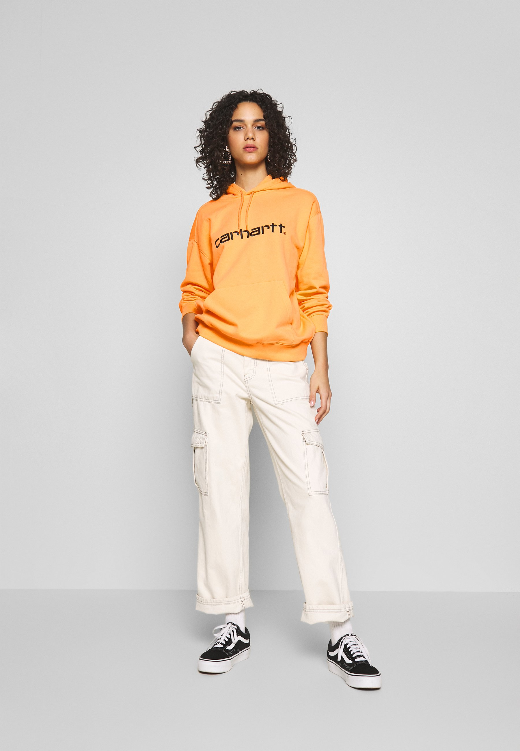 Carhartt WIP HOODED - Felpa con cappuccio - pop orange/black