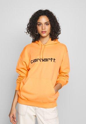 HOODED - Sweat à capuche - pop orange/black