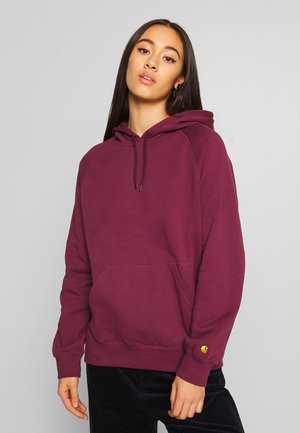 HOODED CHASY - Bluza z kapturem - shiraz/gold