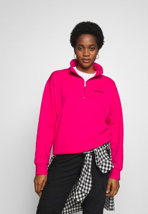 SCRIPT HIGHNECK - Sweatshirt - ruby pink
