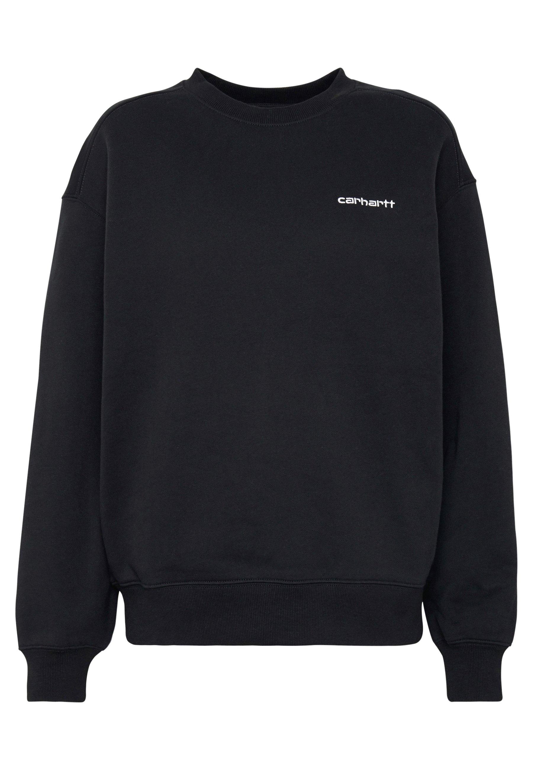 Carhartt Wip Script Embroidery - Sweatshirt Lime/ Black