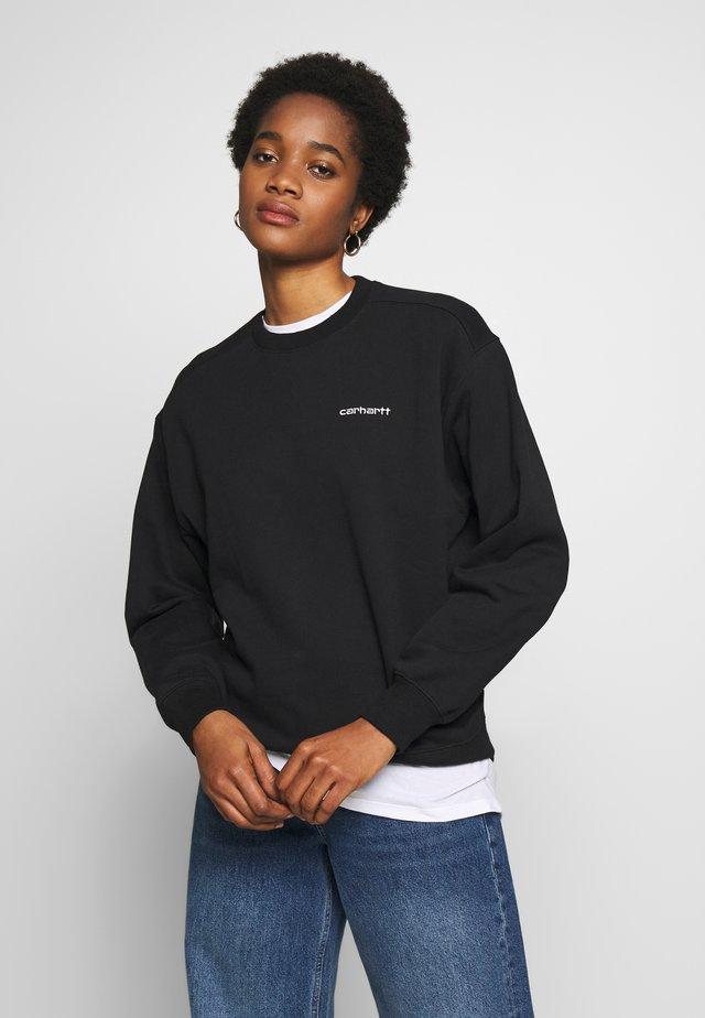 SCRIPT EMBROIDERY  - Sweatshirts - black/white