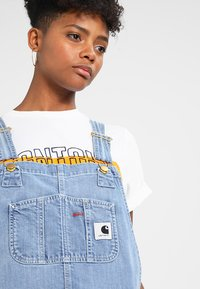 Carhartt WIP - OVERALL - Tuinbroek - blue light stone washed - 3