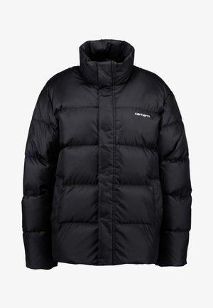 DEMING JACKET - Gewatteerde jas - black/white