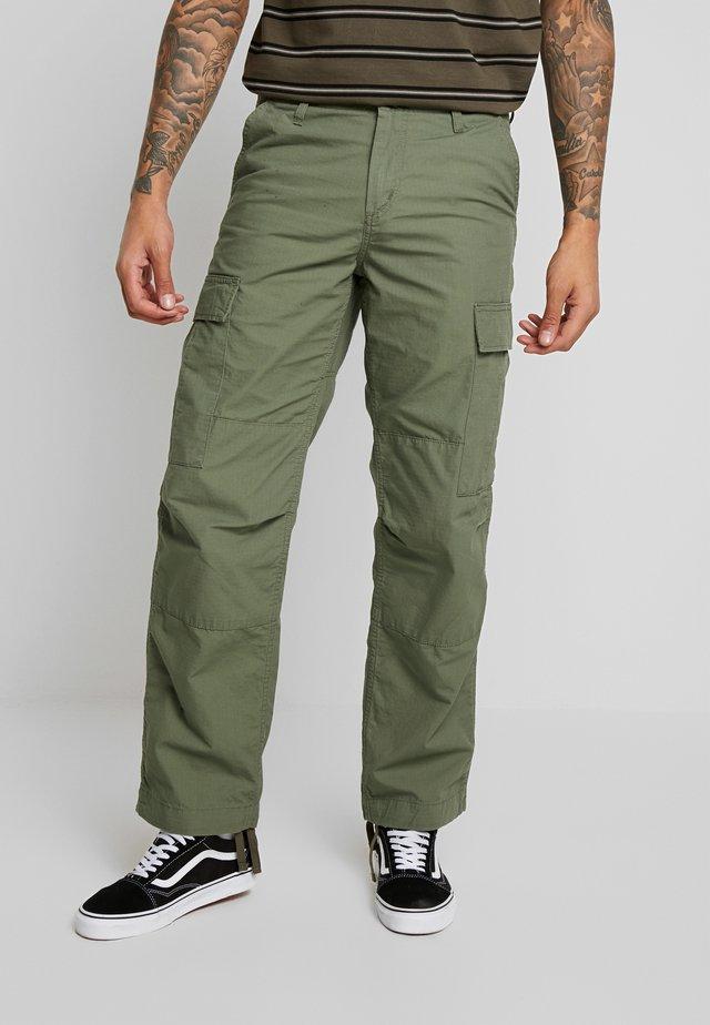 REGULAR COLUMBIA - Cargo trousers - dollar green rinsed