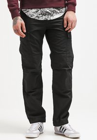 Carhartt WIP - REGULAR COLUMBIA - Pantalon cargo - black rinsed - 0