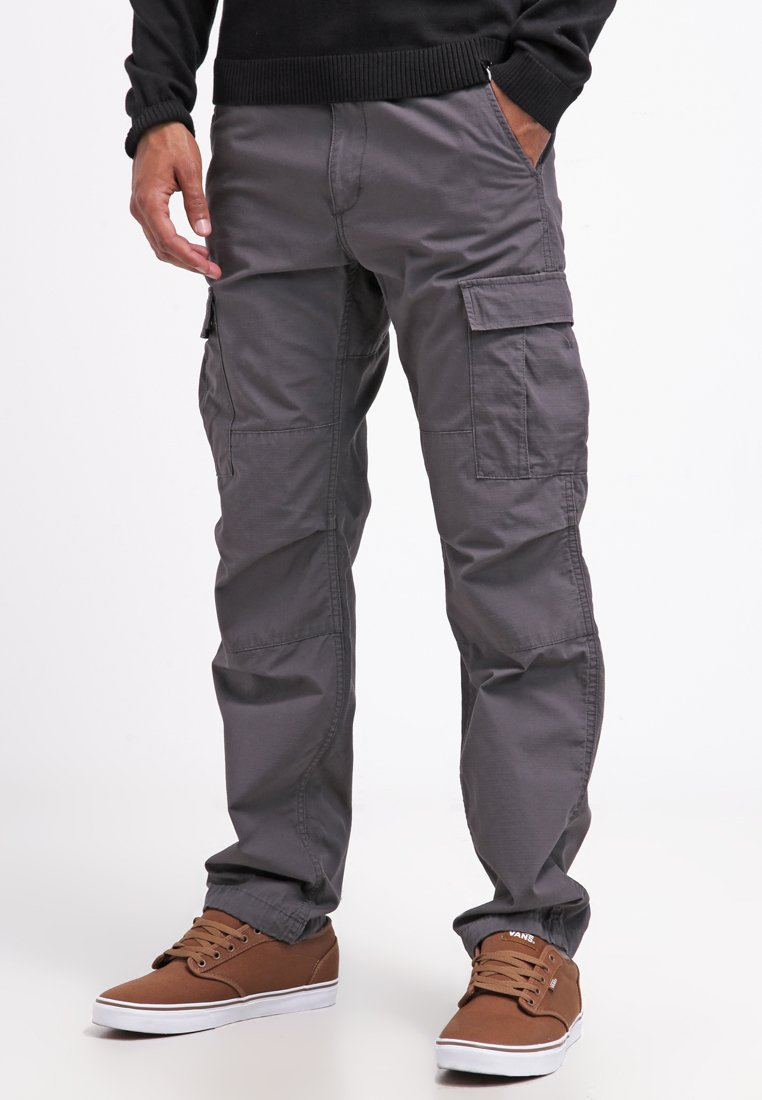 Carhartt WIP - AVIATION PANT COLUMBIA - Cargo trousers - blacksmith rinsed