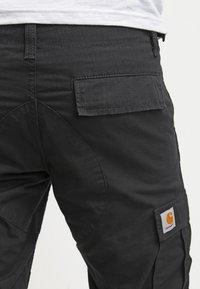 Carhartt WIP - AVIATION PANT COLUMBIA - Pantaloni cargo - black rinsed - 3