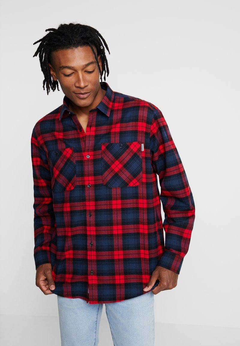 Carhartt WIP - PELKEY - Shirt - cardinal/blue
